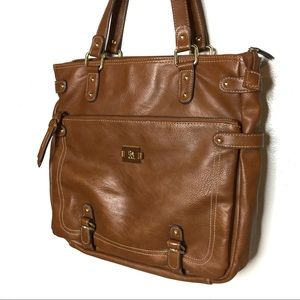 Style & Co Bags - STYLE & CO. COGNAC BROWN FAUX LEATHER HAND BAG